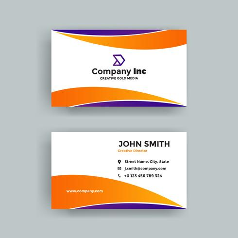 Orange And Purple Business Card
