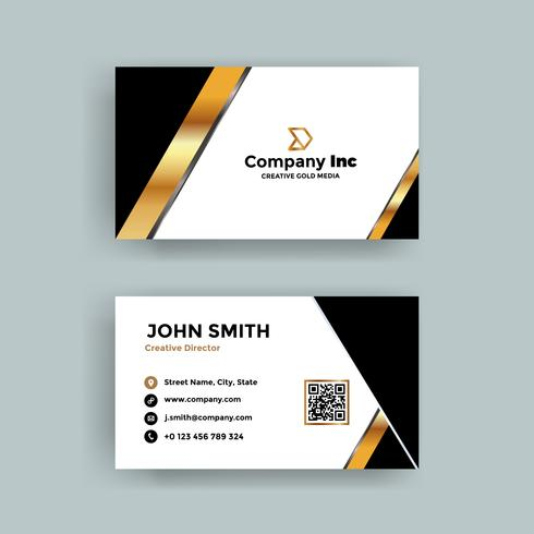 Gold Elegant Business Card