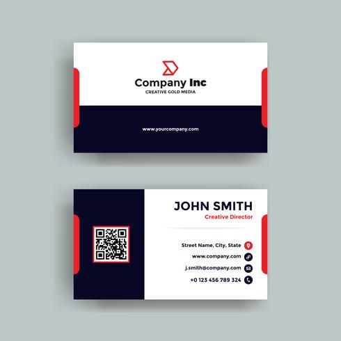 Red And Blue Business Card