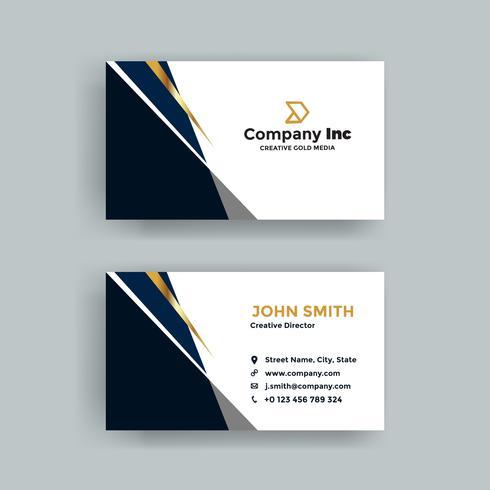 Blue Golden Business Card