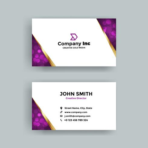 Purple Abstract Business Card