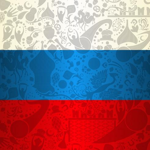 Russia Flag Decoration Background
