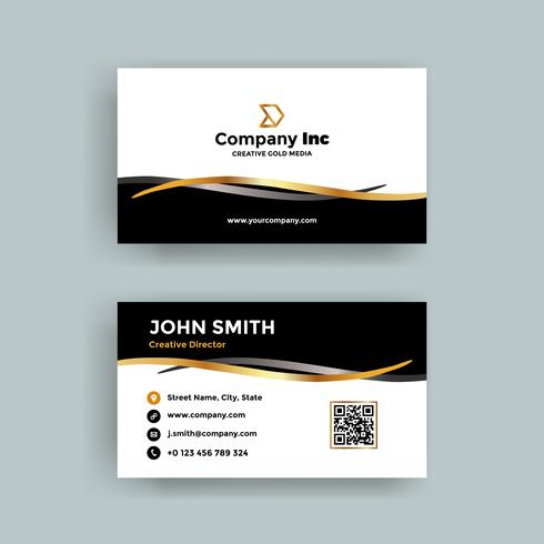 Small Gold Ribbon Business Card