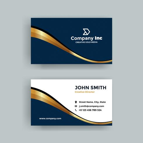 Elegant Dark Blue And Business Card