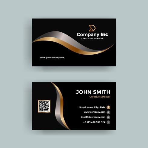 Gold Line Business Card