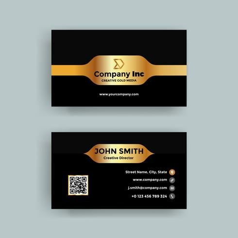 Dark And Gold Business Card