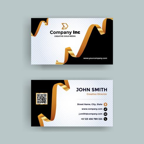 Gold Ribbon Business Card