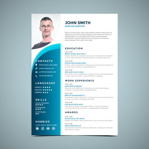 Light Blue Resume Design