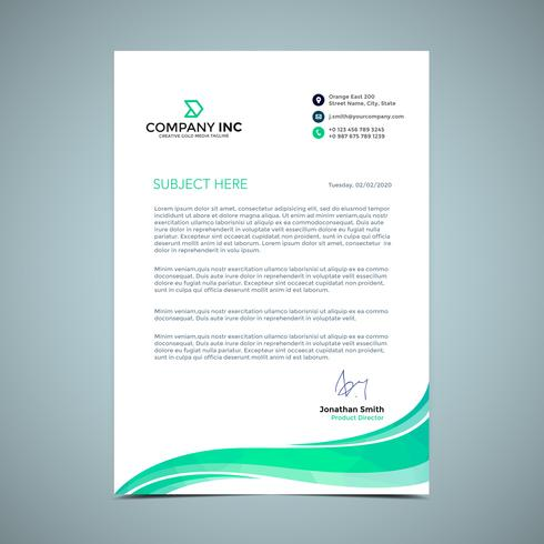 Light Green Letterhead Design