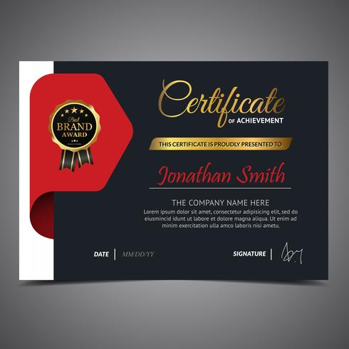 Elegant Red Diploma Template