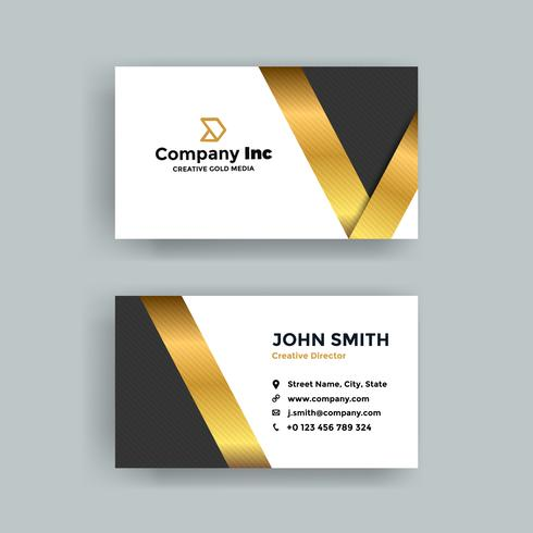 Gold Cool Business Card