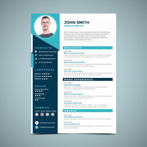 Elegant Blue Resume Design