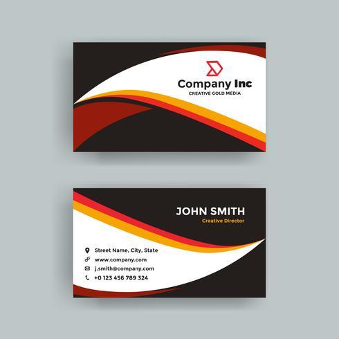 Black Orange Business Card