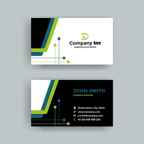 Blue And Green Elegant Business Card