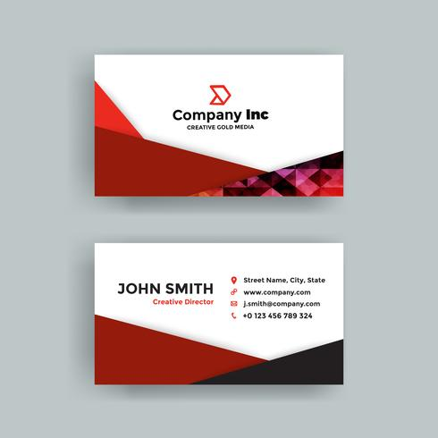Red Abstract Business Card