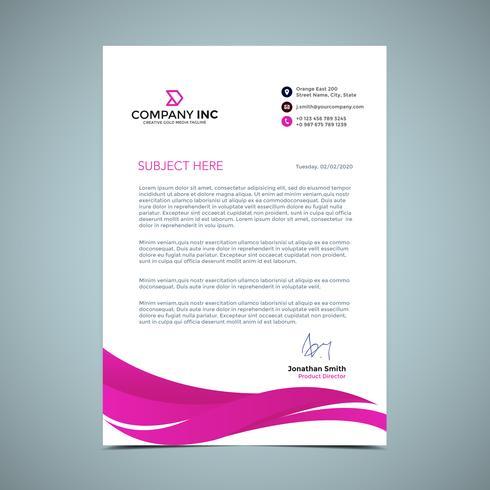 Pink Shape Letterhead Design