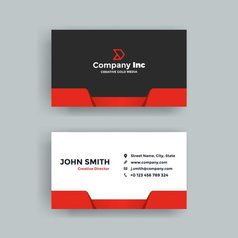 Red Simple Business Card