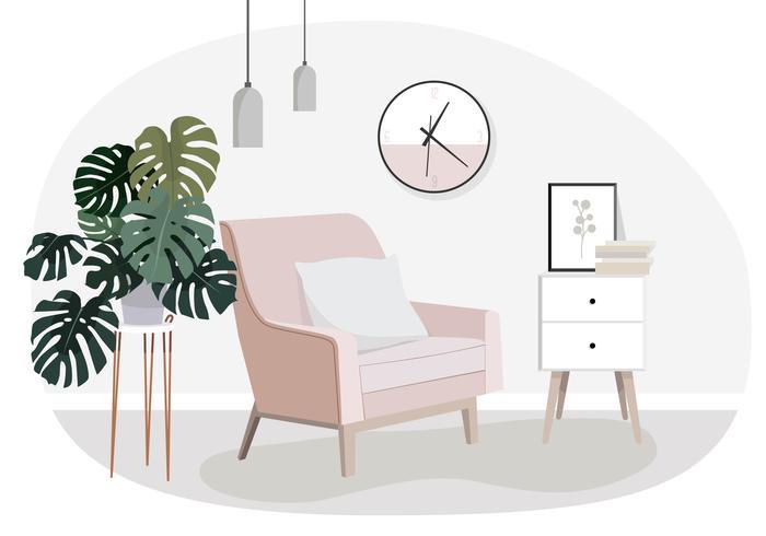 Vektor-Innenarchitektur-Illustration