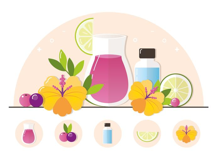 Vector Fruit Juice Illustration