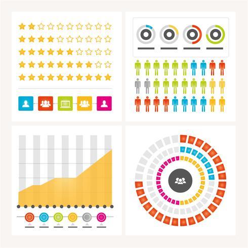 Elementos de Design do vetor infográfico