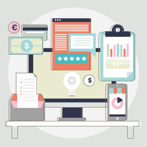 Vectorelementen van het ontwerp van de website