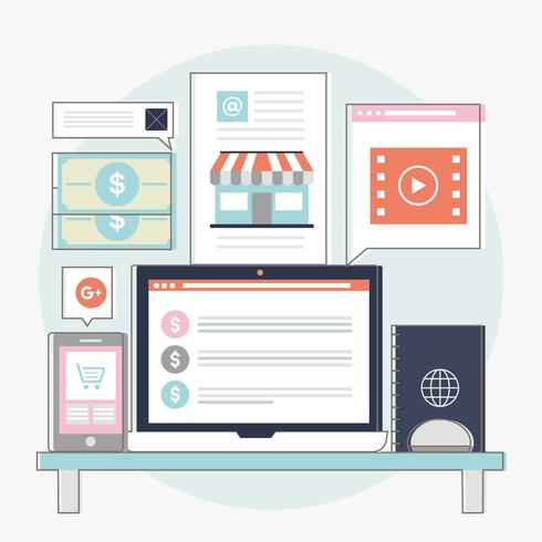 Vektor-Website-Design-Elemente