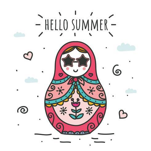 Hallo zomer Vector