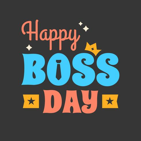Happy Boss Day Poster