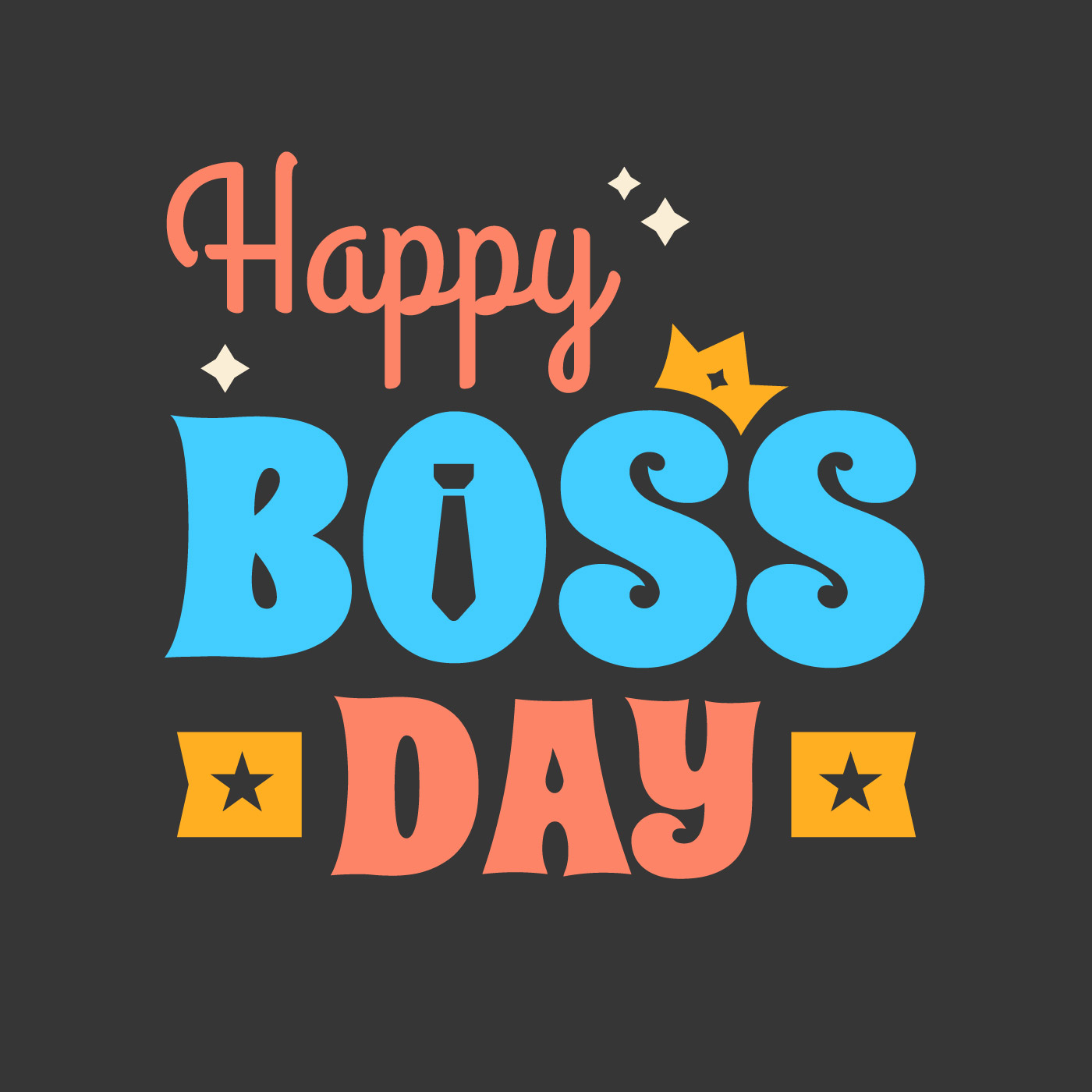 Happy Boss Day Poster Download Free Vector Art Stock Graphics