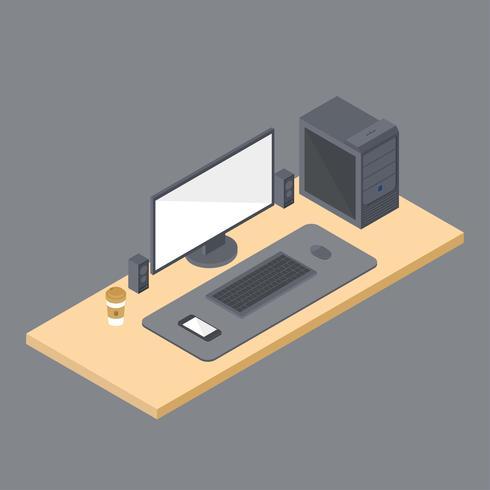 Workspace Isometric Set Vector