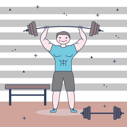 Bodybuilder Vector Background