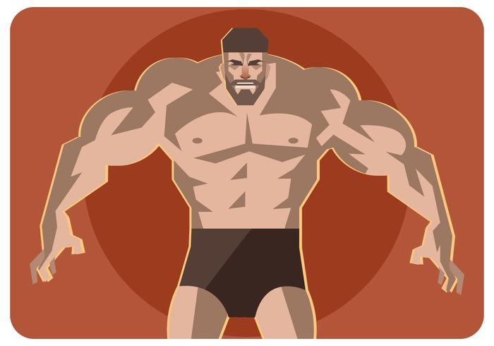 Muscular Man Vector