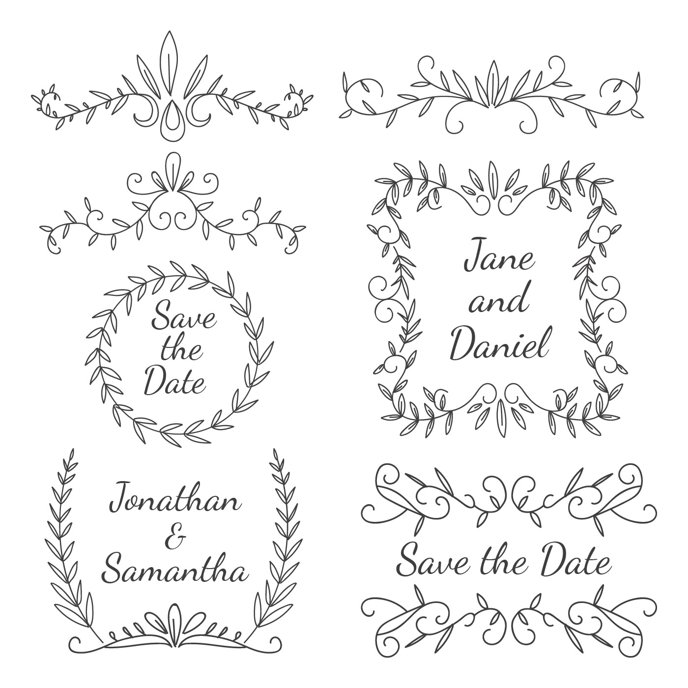 wedding element floral ornament