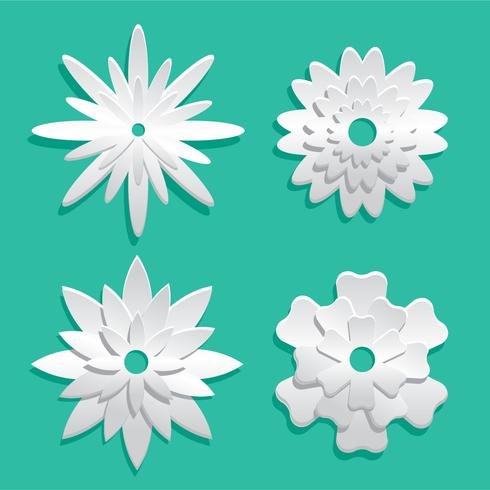 Blanco 3d Floral Papercraft Vector