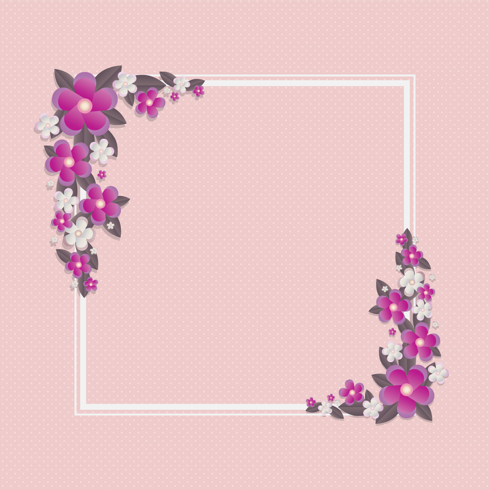 3d Floral Papercraft Frame Template Download Free Vector Art