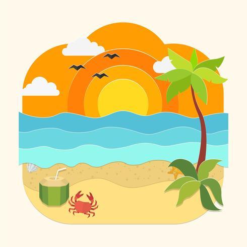 Beach Papercraft