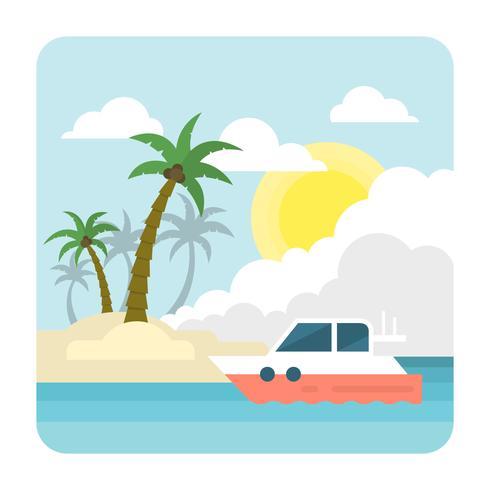 Platt tropisk strand
