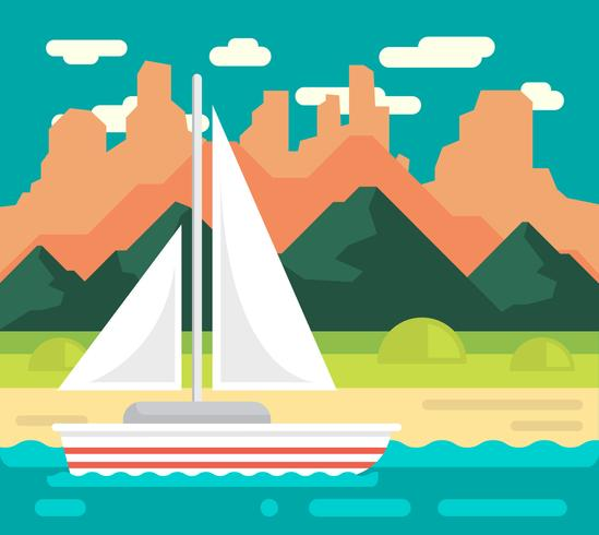 Flat Landscape Illustration vector