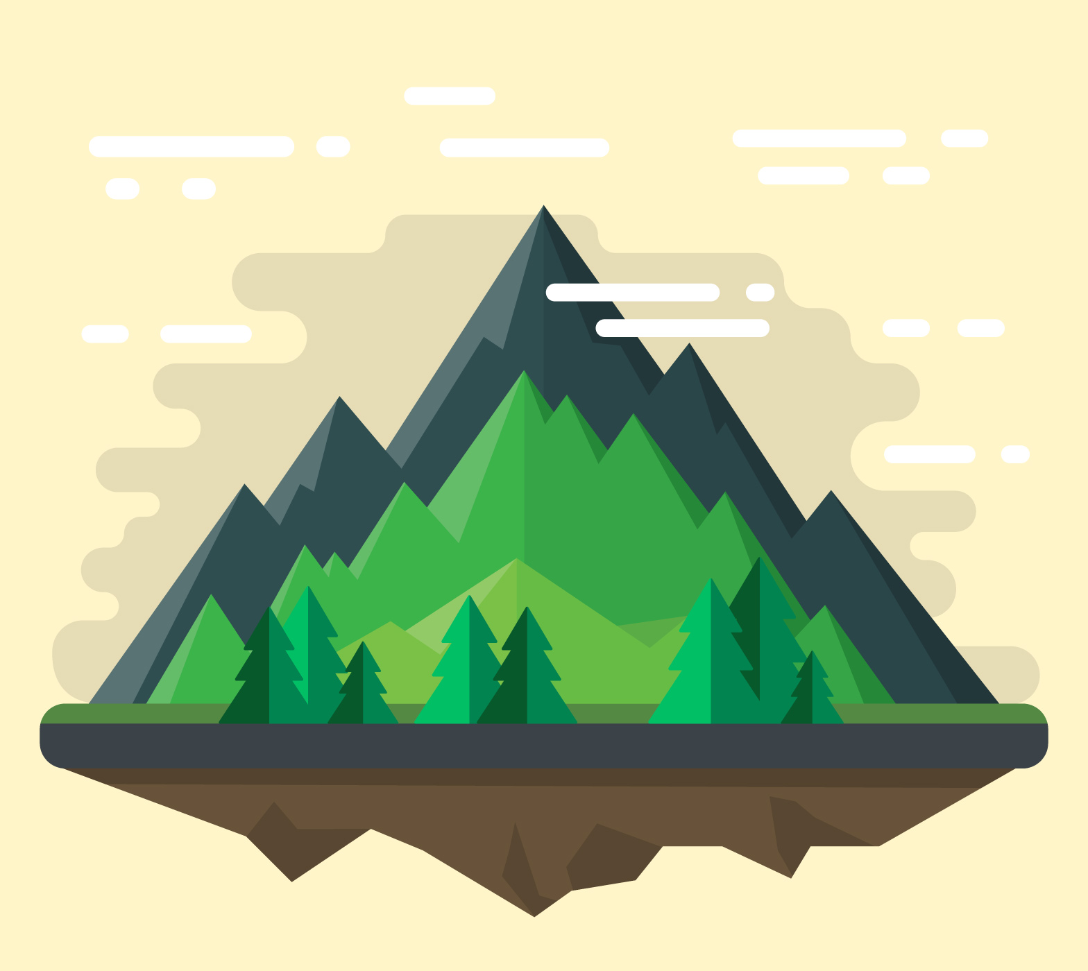 Flat Landscape Design - Download Free Vectors, Clipart ...
