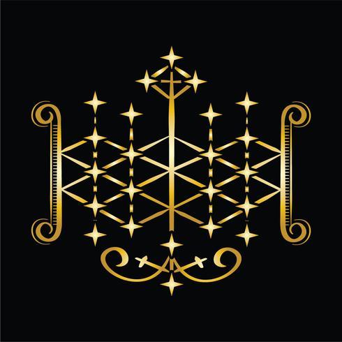 símbolo de vodu de ogoun