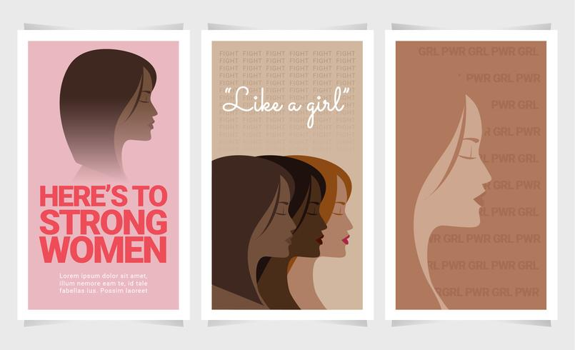 Vector Mujeres Posters