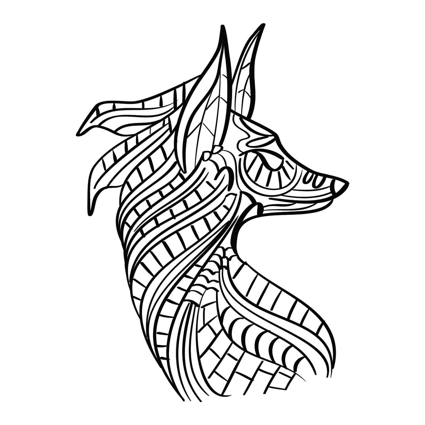 Fox Coloring Page Download Free Vector Art Stock