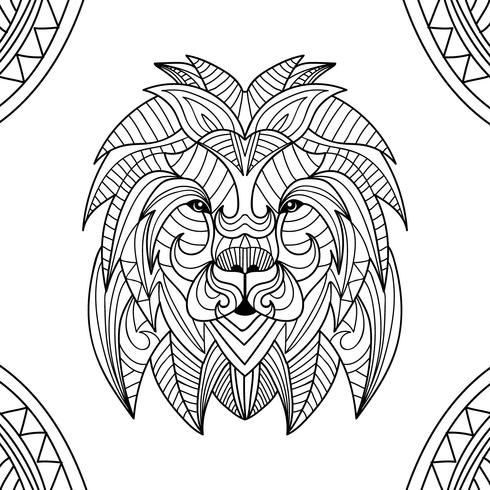 Coloring Book Lion Animal - Download Free Vector Art, Stock Graphics ...