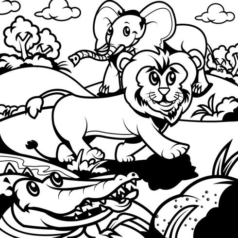 coloring book animals 3