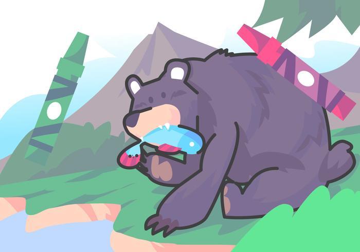 Urso de livro para colorir
