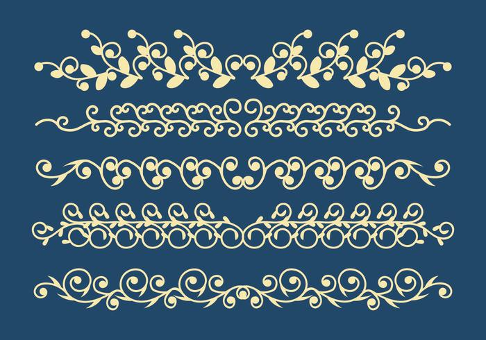 Dekorativa Ornament Vector Set