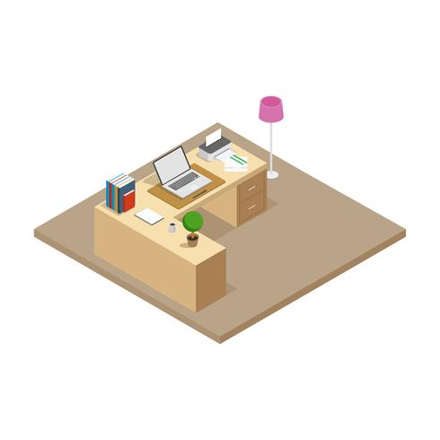 Isometric Workscpace Vector