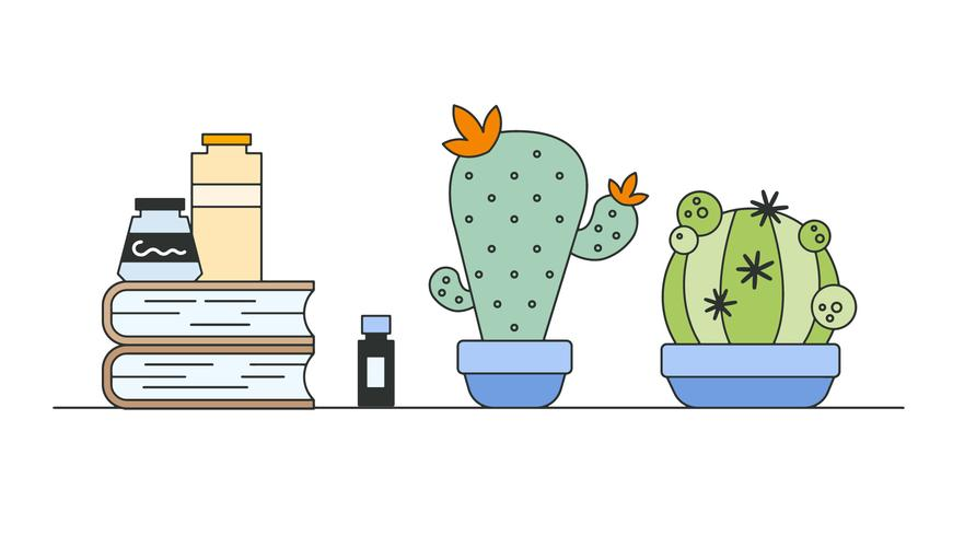 Cactus Cultivation Vector
