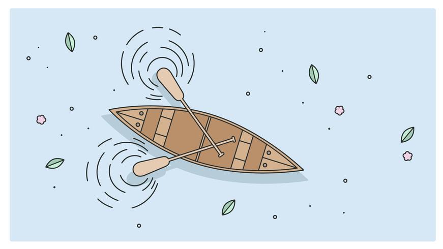 Vetor de canoa