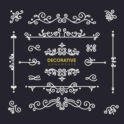 Colección de ornamentos decorativos retro